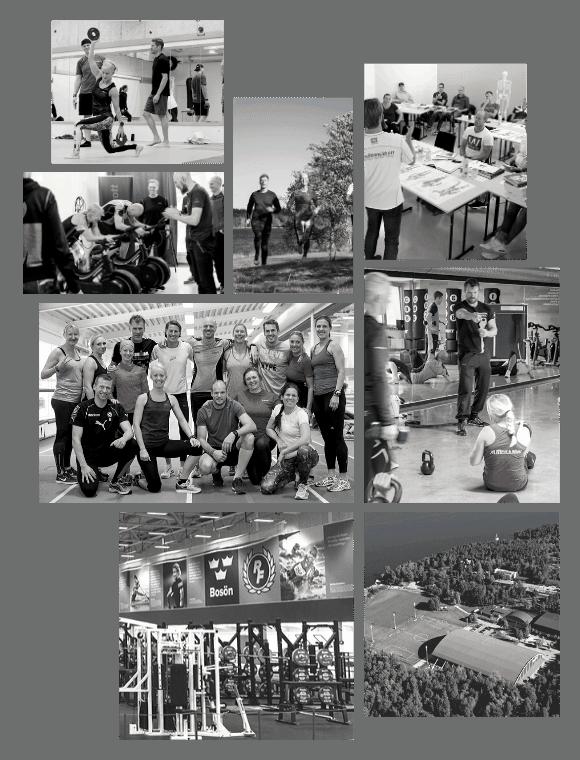 Collage över PT-utbildningen på Bosön