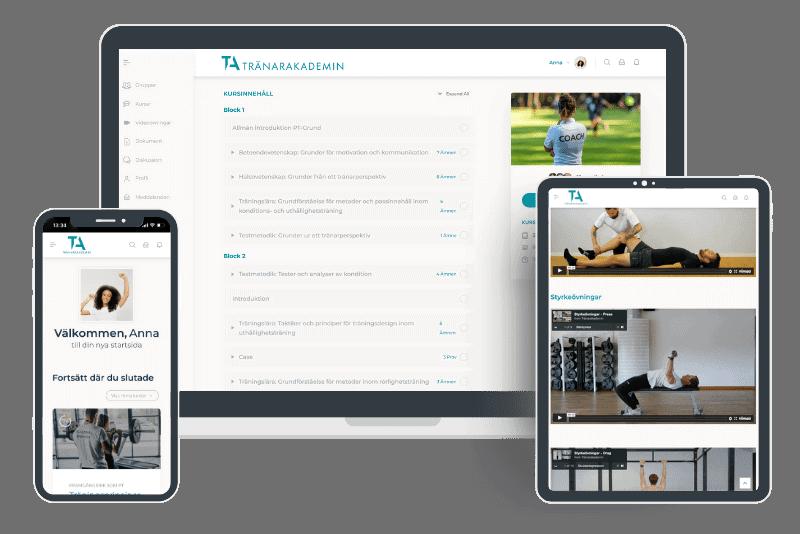 Vår onlineportal för PT-utbildningen