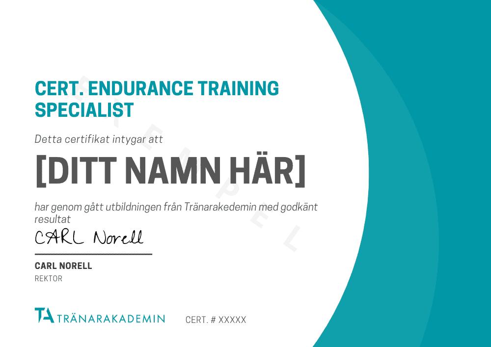 cert endurance training specialist